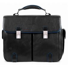 Портфель Piquadro B2S CA1068B2S/N черный натур.кожа