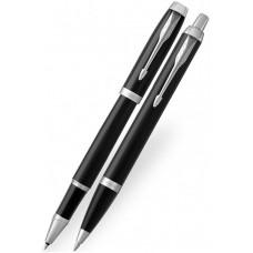 Набор: Ручка роллер и Шариковая ручка Parker IM Core  Black  CT