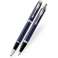 Набор: Ручка роллер и Шариковая ручка Parker IM Core Matte Blue CT