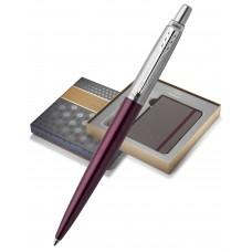 Подарочный набор: Блокнот  и Шариковая ручка Parker Jotter NEW - Essential, Portobello Purple CT