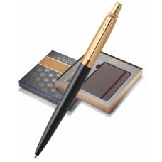 Подарочный набор: Блокнот и Шариковая ручка Parker Jotter Premium, Bond Street Black GT
