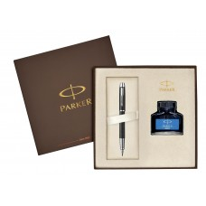 Набор перьевая ручка IM Premium F222, цвет: Matte Black CT с чернилами