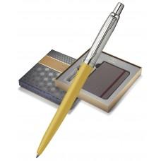 Подарочный набор с блокнотом и Шариковая ручка Parker Jotter 125th K173, цвет: Yellow