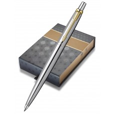 Подарочный набор: Черный чехол  и Шариковая ручка Parker Jotter Steel K691, цвет: St. Steel GT