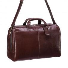 Коричневая дорожная сумка с ремнем Dr.Koffer B231570-02-09