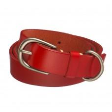 Красный кожаный ремень Dr.Koffer R05605112-104-12