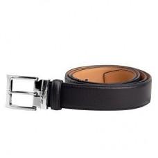 Классический черный кожаный ремень Dr.Koffer R 032B-01-120-41-04