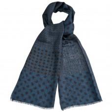 Мужской синий шарф из мерсеризованной шерсти Dr.Koffer S810456-135-70