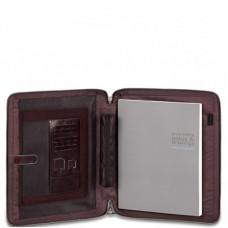 Кожаная папка Piquadro PB2629B2/MO с выдвигающимися ручками для документов А4 коричневая