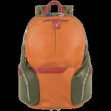 Рюкзак Piquadro CA2943OS/AR кожа/синтетика зелено-оранжевый