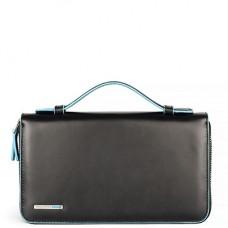 Кожаное портмоне/барсетка с ручкой Piquadro AS467B2/N