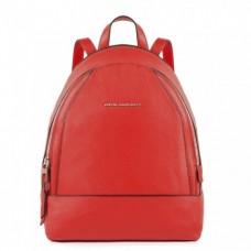 Женский рюкзак Piquadro CA4327MUS/R кожаный красный