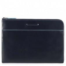 """Чехол-клатч Piquadro AC3776B2/BLU2 кожаный для Ipad 9,7"""" синий"""