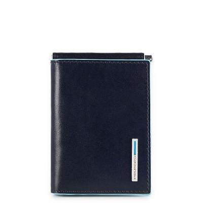 Бумажник Piquadro Blue Square PU3890B2/BLU2 горизонтальный с зажимом для купюр/синий