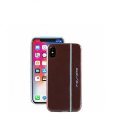 Чехол Piquadro AC4511B2/MO кожаный для iPhone X/XS