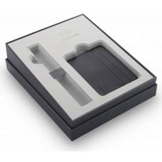 Подарочная коробка Parker с визитницей, цвет черный
